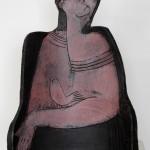 Mann mit Vogel, Keramik