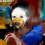 Geschmücktes Afrika Acryl auf Leinwand