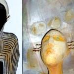 Figuren mineralischer Werkstoff, Bild Acryl auf Leinwand-1