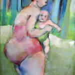 ….zum Babyschwimmen Acryl auf Leinwand