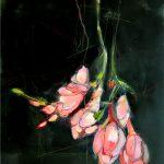 Blütenleuchten Acryl auf Leinwand