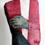 Herr Grün – rosa gewandet Mineralischer Werkstoff