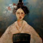 Geisha Acryl auf Leinwand 2019