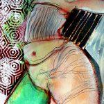 Frei…… Acryl/Oelstift auf Papier 2020