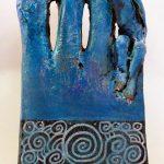 Keramik/Acrylbemalung H 40cm 2020