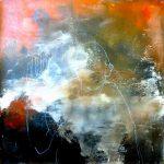 Gruß vom Himmel Acryl auf Leinwand 2020 100×100