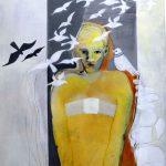 Angst….., nicht greifbar Acryl auf Leinwand  100 x 80 2019